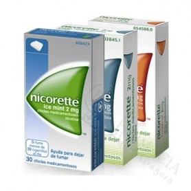 NICORETTE ICE MINT 4 MG CHICLES MEDICAMENTOSOS, 105 CHICLES